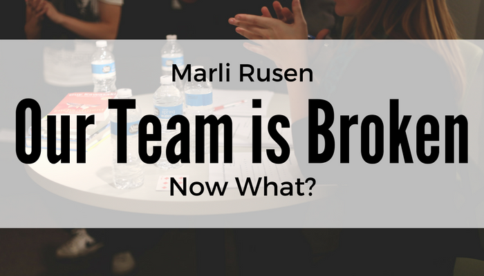 Our Team is Broken: Now What?